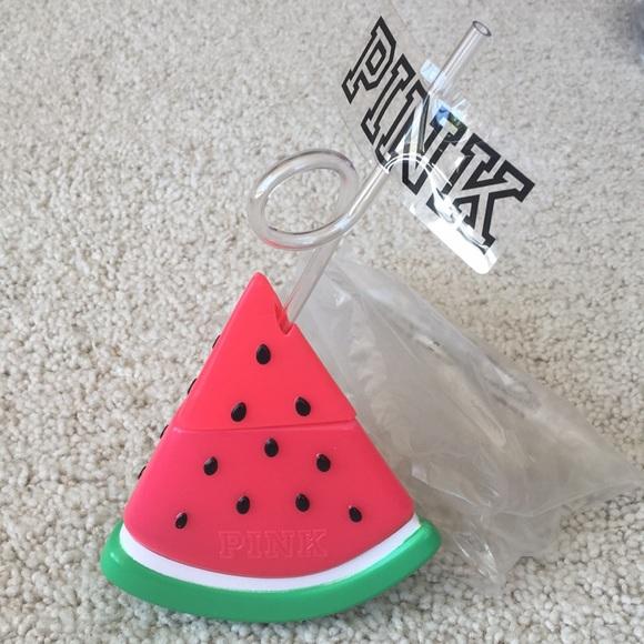 13.5oz 400ml Victorias Secret PINK 2018 Watermelon Cup Water Bottle Spring Break
